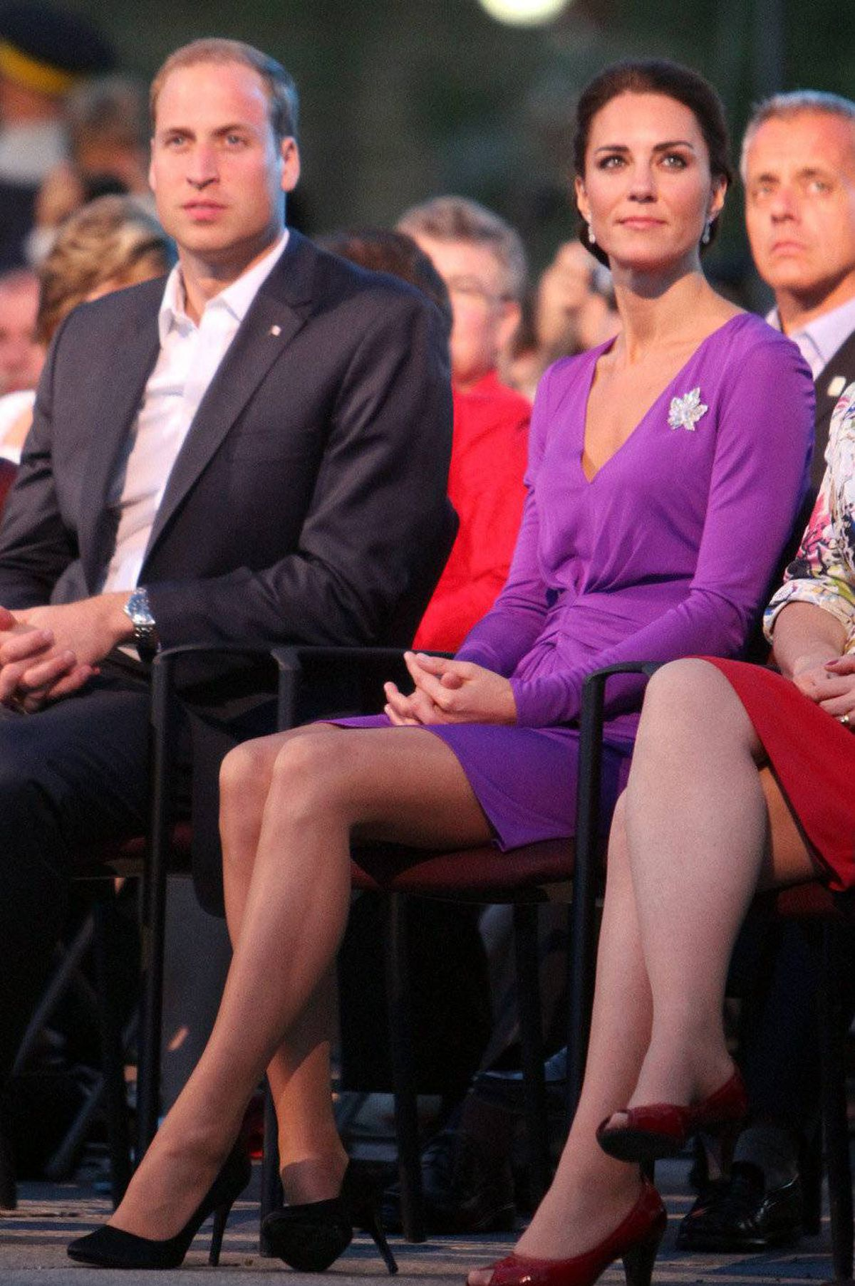 The Duke and Duchess of Cambridge take in the Canada Day evening celebrations and performances in Ottawa, Friday July 1, 2011.