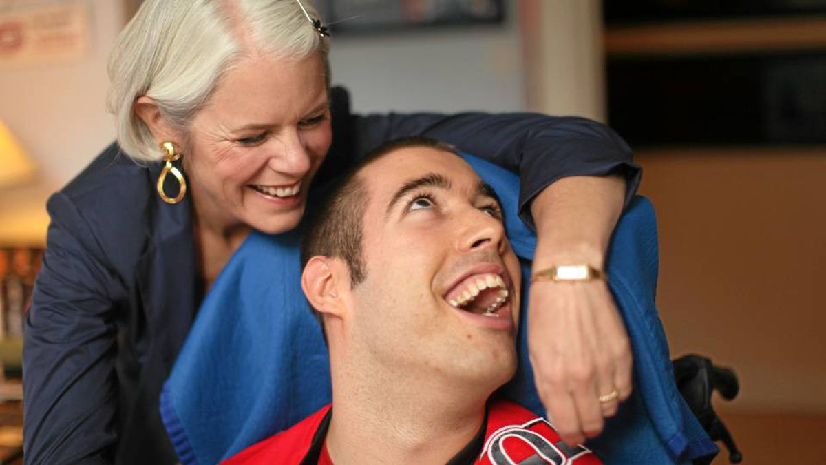 Donna Thomson with her son Nicholas. Her new book, The Four Walls of My Freedom, is an examination of how we assess the value of a life.