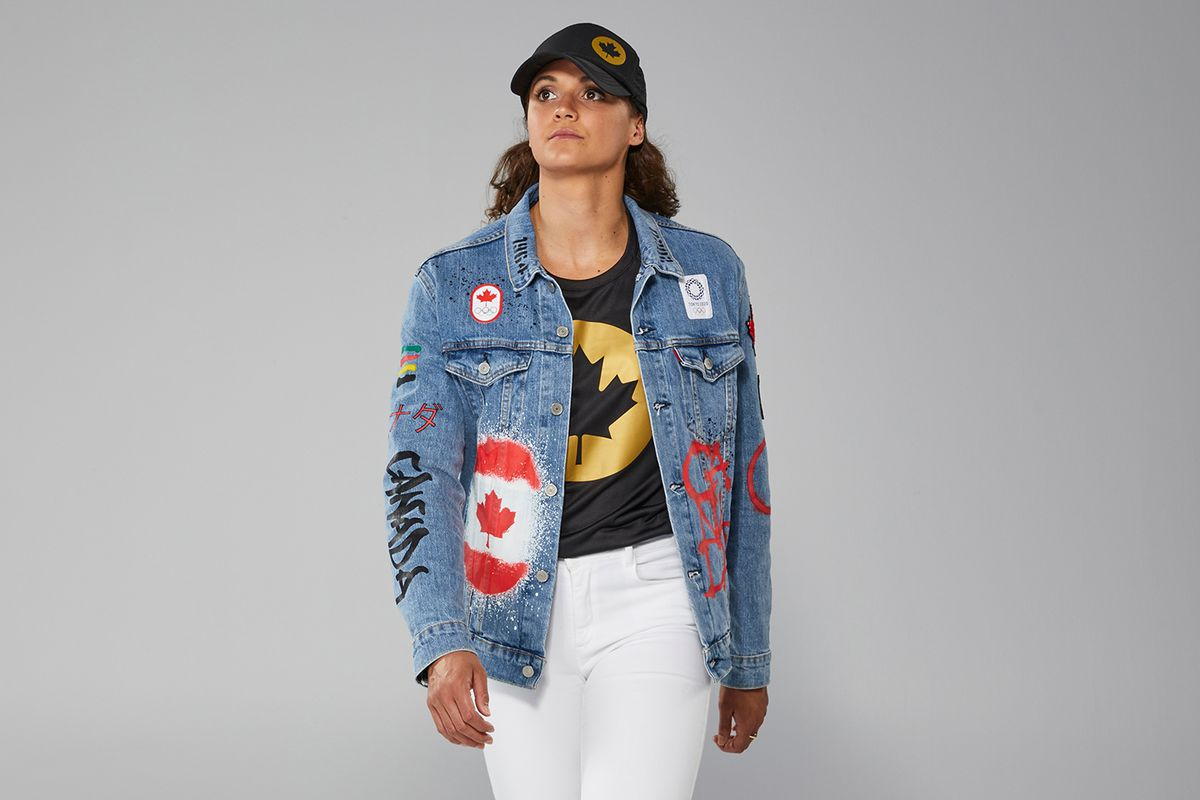 The Olympic jean jacket perfectly captures our never-ending struggle with national identity