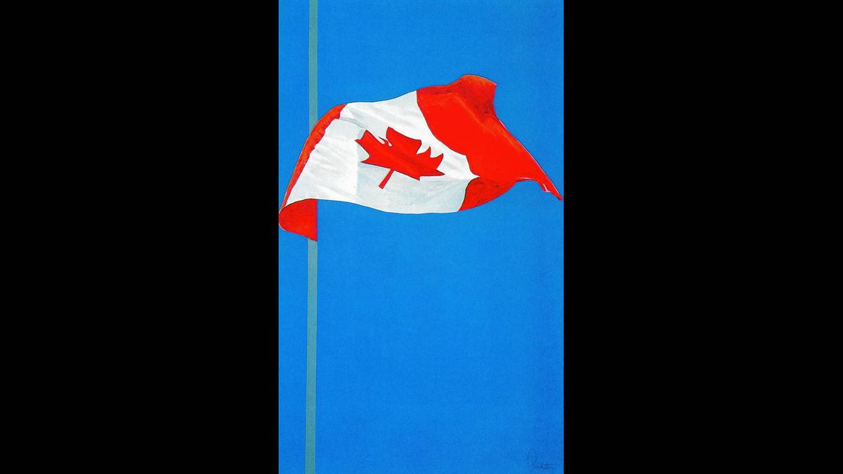 The Painted Flag, 1981: Charles Pachter (silkscreen), gift of the artist
