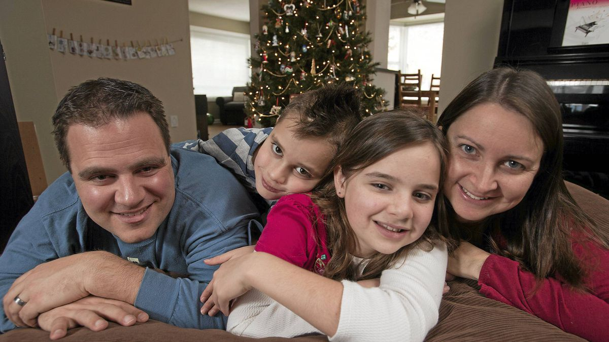 The Knaak family of Kamloops, BC enjoy spending a quality Christmas day as a family and not rushing off to be with extended family.