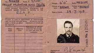 Philip Tripe's identity card as an RAF wing commander.