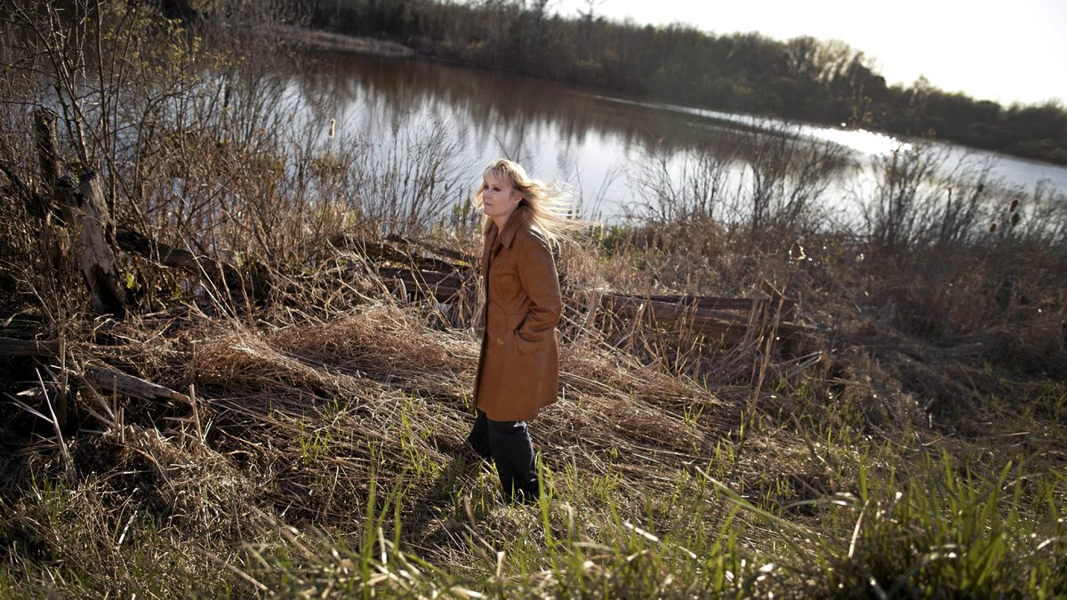 Lori Leckie at the site along Heart Lake Road in Caledon, ON where the body of Kera Freeland was found.
