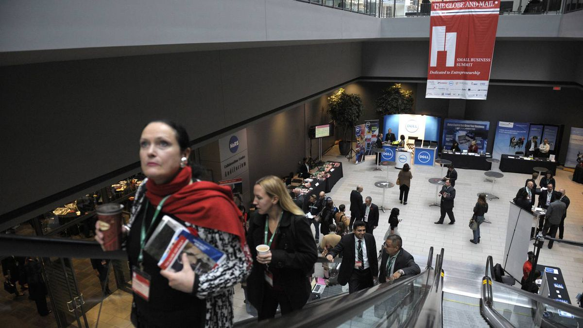 Mid morning coffee break at the Small Business Summit held at the MaRS Discovery District in Toronto on Nov. 8, 2011.