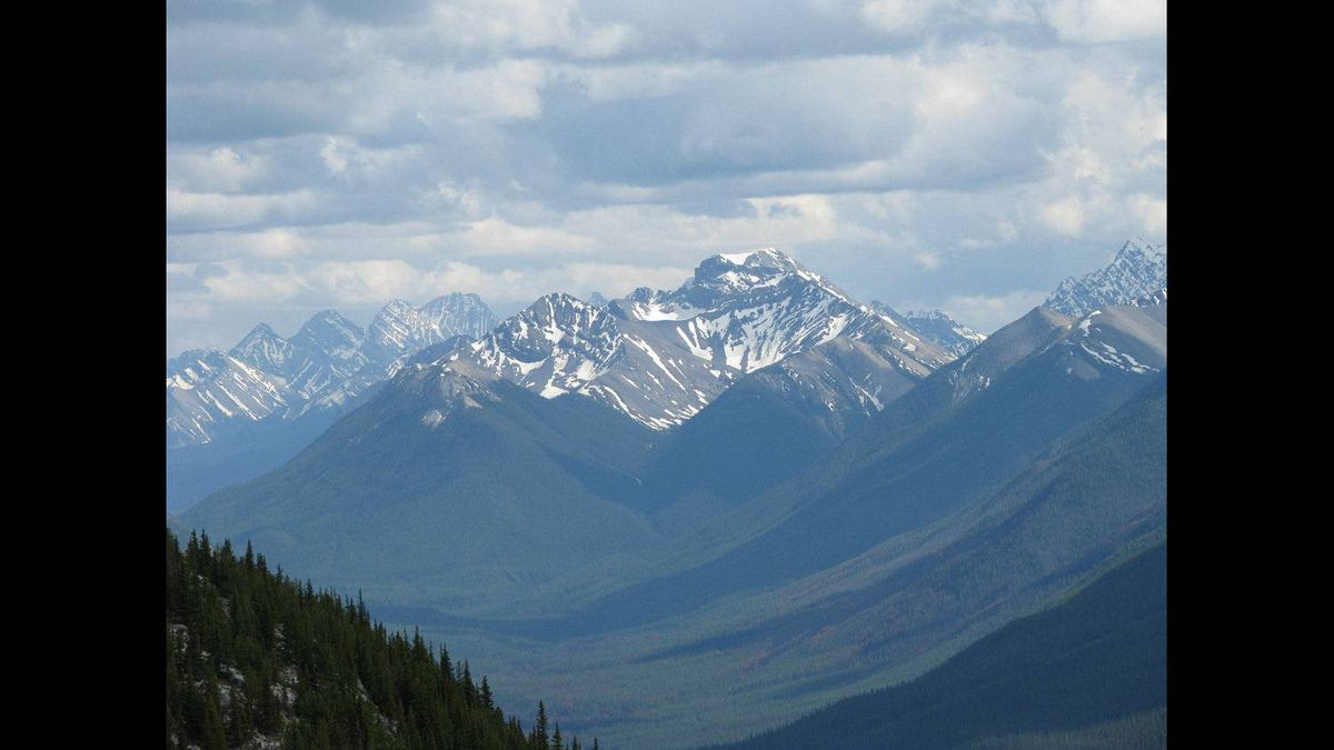 Christine McCardell photo: Mountain Top - Ever popular Banff National Park. Happy Anniversary Parks Canada! (June 2009)
