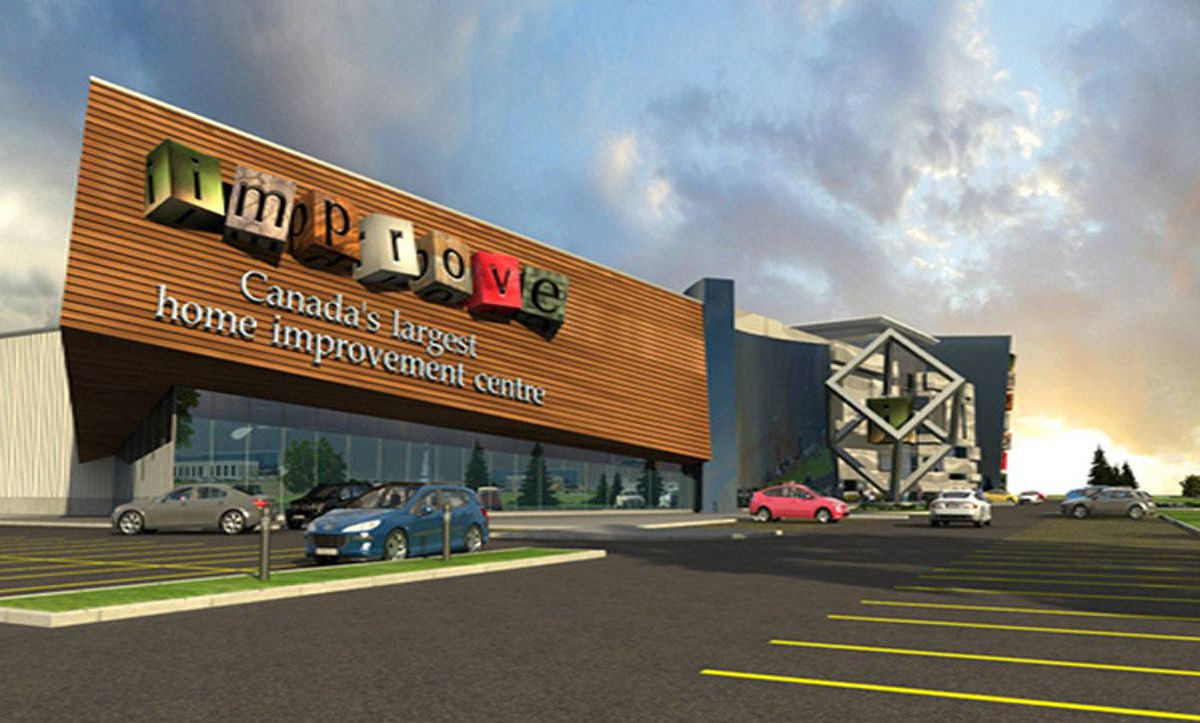 The home improvement centre will not only house stores but also meeting rooms, a 200-seat auditorium for product launches, cafés, and 1,500 parking spots.