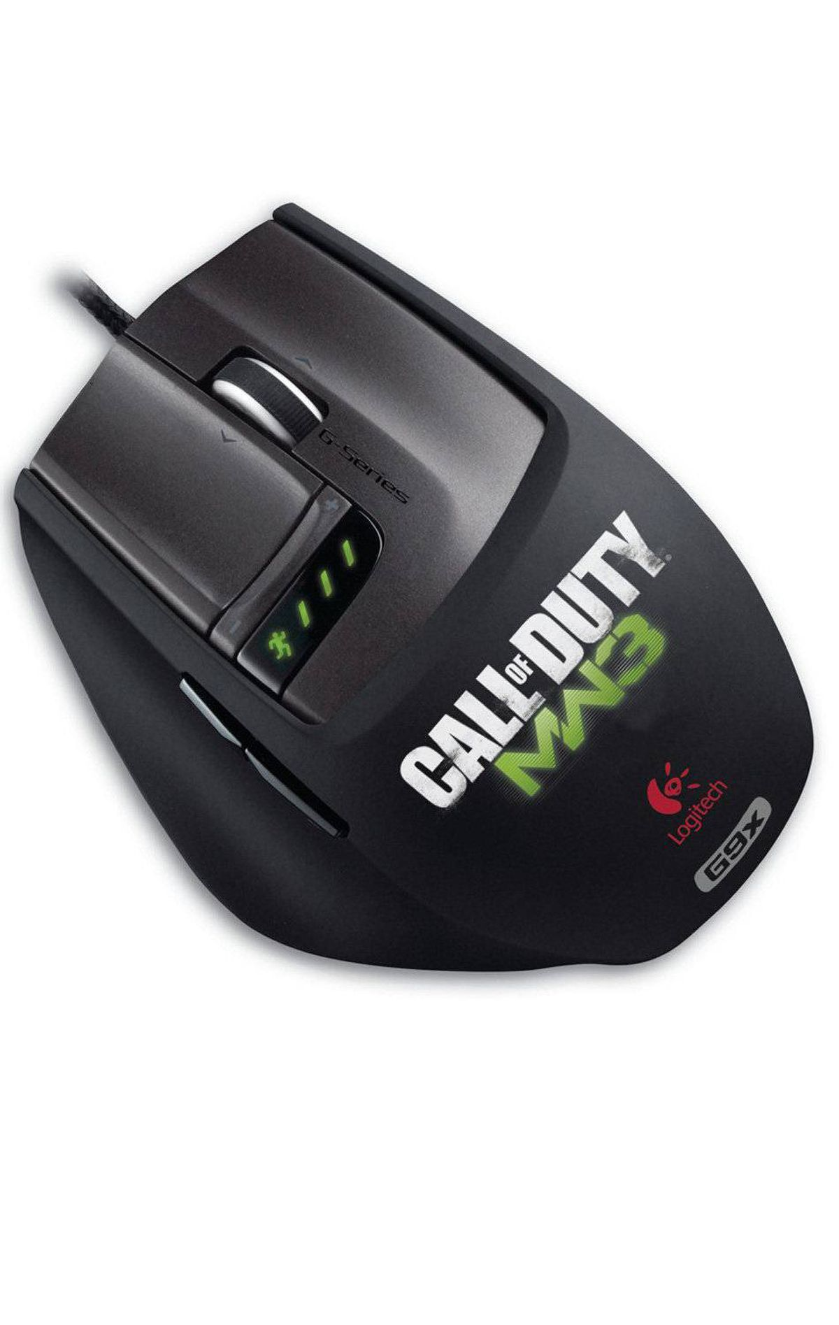Logitech Laser Mouse G9X: Made for Call of Duty With on-the-fly sensitivity alteration, removable weights, swappable cases (one smooth, one grippy), and the ability to switch between fluid and ratchet scrolling, Logitech's latest gaming mouse offers enough customization options to suit just about any kind of PC gamer. The Call of Duty branding is optional. ($99.99; www.logitech.com)