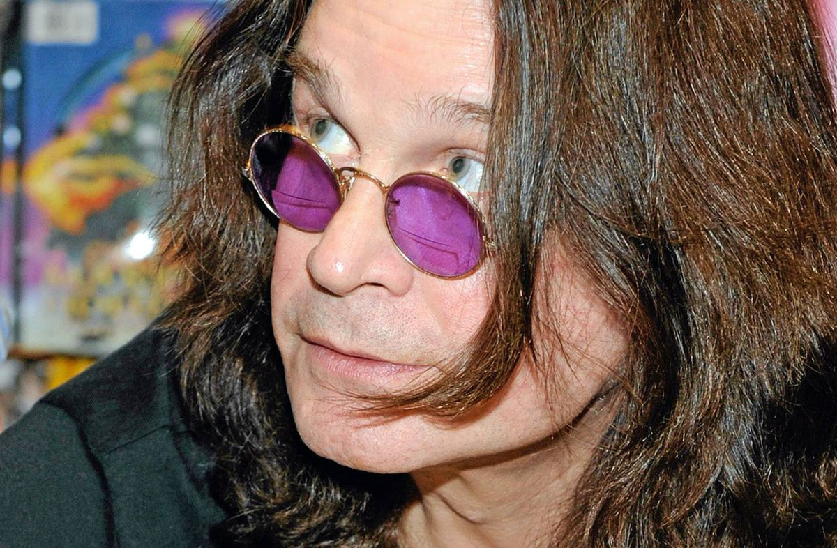 Ozzy Osbourne signs copies of his autobiography in Las Vegas, Feb. 18, 2010.