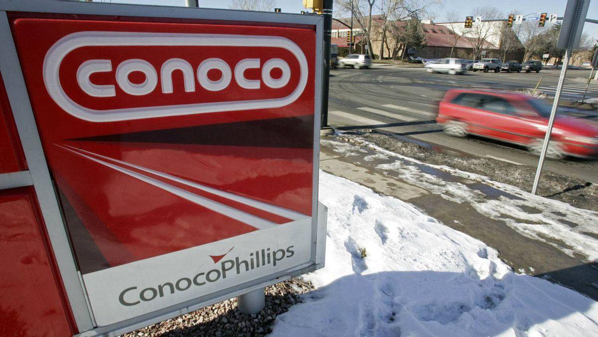 A Conoco Phillips gas station in Boulder, Colorado January 24, 2007.