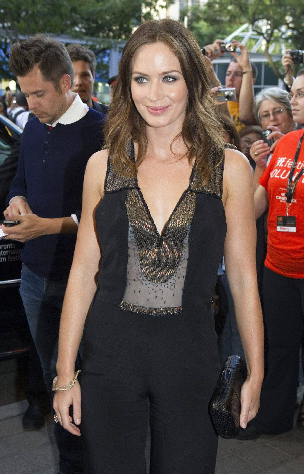 "Emily Blunt arrives for the premiere of the film ""Salmon Fishing in the Yemen"" at the Toronto International Film Festival in Toronto on Saturday Sept. 10, 2011."