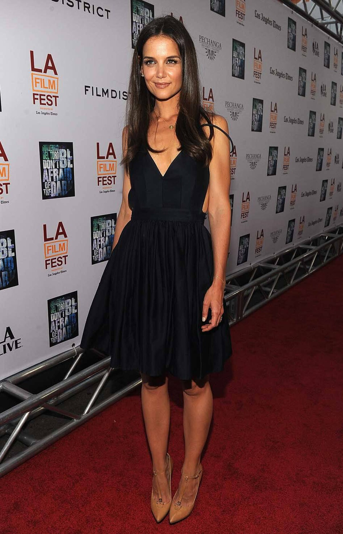 """Actress Katie Holmes arrives at the LAFF closing night """"Dont Be Afraid Of The Dark at Regal Cinemas, L.A. Live on June 26, 2011 in Los Angeles, California."""