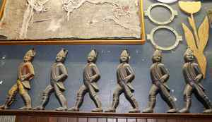 A group of hessian soldiers and irons at Addison Inc. on Wabash Ave., Toronto 19, 2012, Photo by: Fernando Morales/The Globe and Mail