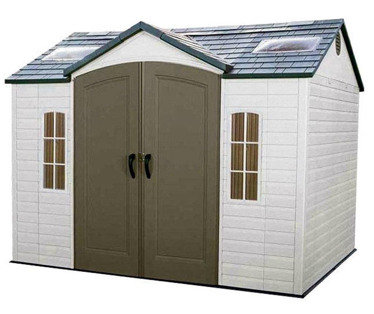 Lifetime's 10-by-eight-feet garden shed is made of UV-protected high-density polyethylene and features both interior deadbolts and an exterior padlock loop as well as two shatterproof windows for added security. $1,349 at the Home Depot (www.homedepot.ca).